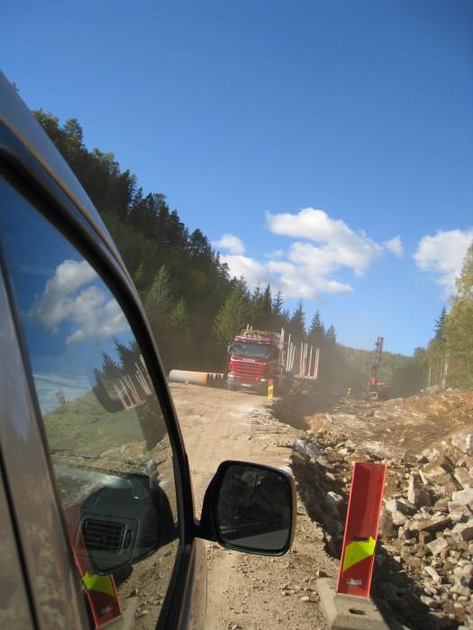 Møtende trafikk på Telemarksvei