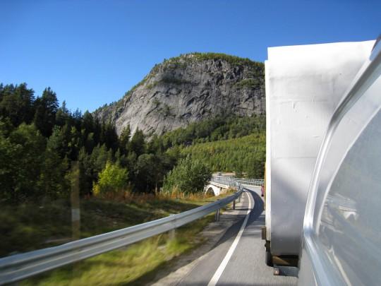 Utoskop på veien i Aust-Agder