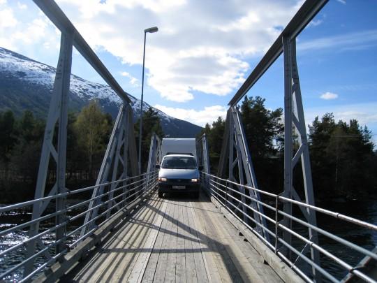 Utoskop på bro i Oppland
